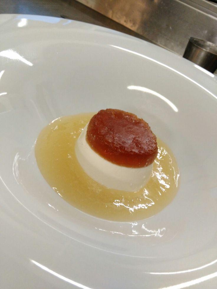 Mostarda e gelatina di chinotto e cremoso alla vaniglia