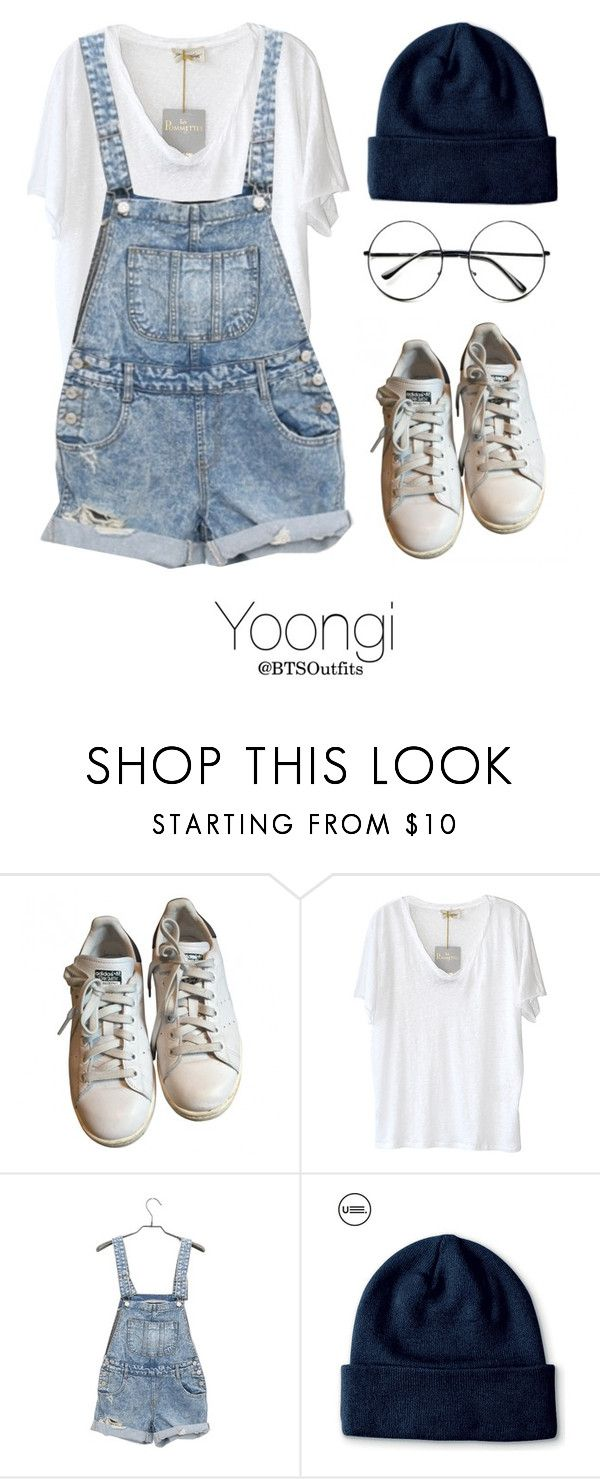 """Spring Outfit with Yoongi"" by btsoutfits ❤ liked on Polyvore featuring adidas, American Vintage and Retrò"
