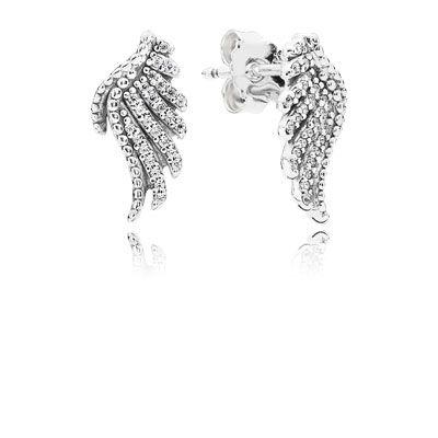 PANDORA | Majestic Feathers stud Earrings