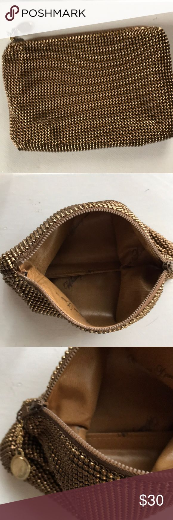 "Vintage Whitney and Davis Mini Cocktail/Coin Elegant and timeless vintage gold metal mesh cocktail purse/coin which feels smooth and sleek Measures 6 1/2"" x 4 1/3"" Gold lining inside with no rips or tears Great condition Whitney and Davis Bags Mini Bags"