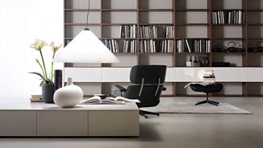 modern minimalist library room design ideas