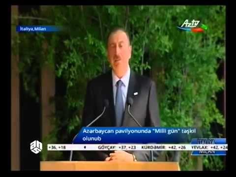 """Ilham Aliyev, """"Milan Expo 2015 """" exhibition"""
