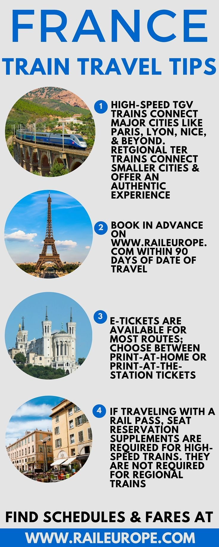 Ever dreamed of traveling through #France by train? Here are a few tips straight from the experts: https://www.raileurope.com/europe-travel-guide/france/index.html
