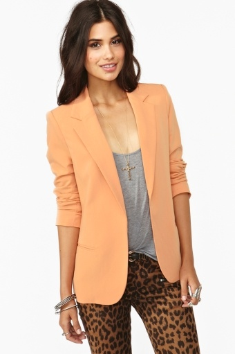 Bryant BlazerLight Pink Blazers, Colors Combos, Fashion Ideas, Blazers Outfit, Colors Combinations, Work Outfit, Spring Outfit, Orange Blazers, Bryant Blazers