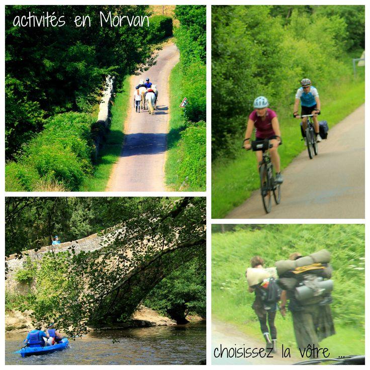 à pied, à cheval, en vélo ou sur l'eau, en #Morvan vous y serez bien