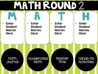 Digital and Editable Math Group Rotation Board and lots more math group ideas.