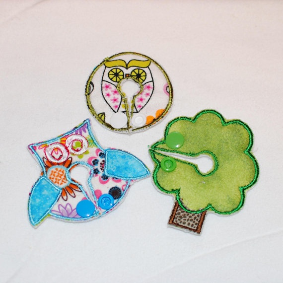 Owl Belly Dots and Shapes Button Covers for GTube JTube on etsy. Cool!!
