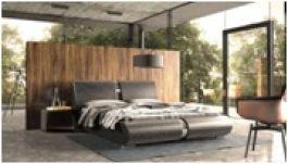 Lugano - elegancka nowość w ofercie naszego salonu. Łóżko tapicerowane z elementami stali szczotkowanej. Dostępne w wersji pod materac 140x200, 160x200 i 180x200 także z pojemnikiem na pościel. Już wkrótce dostępne na naszym salonie.