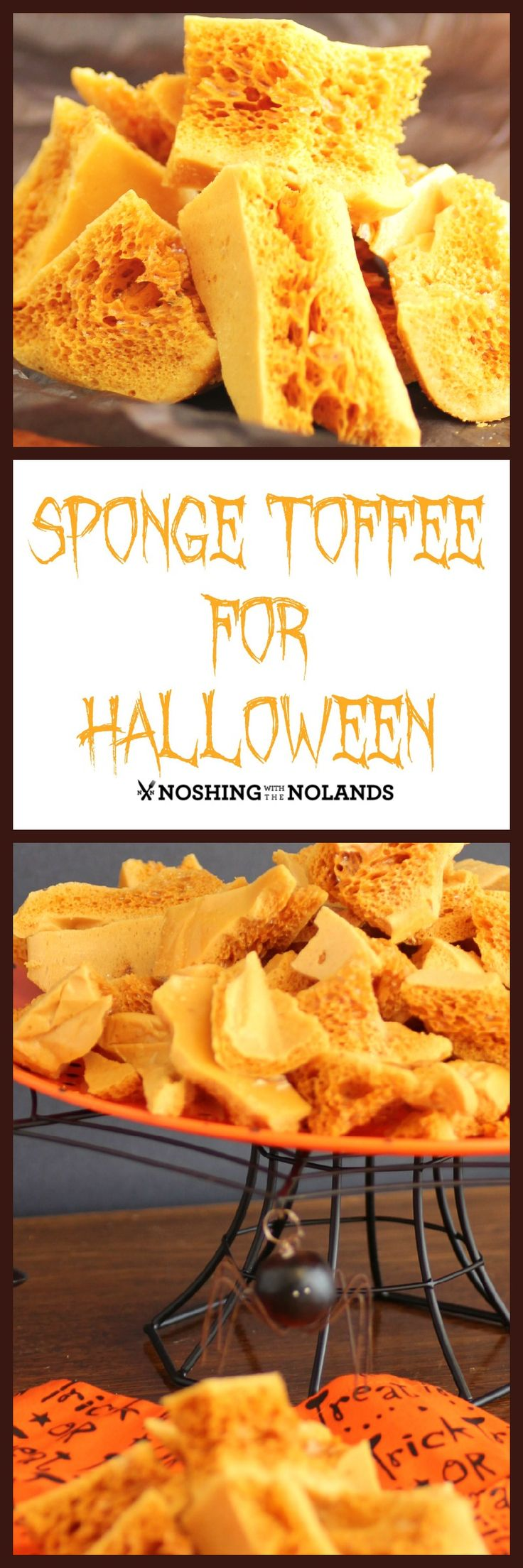 Sponge Toffee for Halloween, I have not made this since I was a child and I have to say it is one of my favorite candies. It reminds me of my childhood.