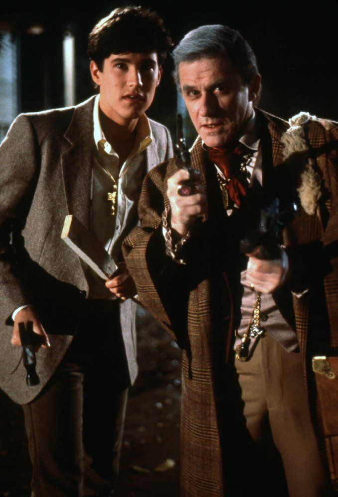 Roddy McDowall and William Ragsdale in Fright Night (1985)