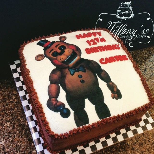 Five Nights at Freddy's Birthday Cake  - Springboro, Ohio - Tiffany's Creative Cakes
