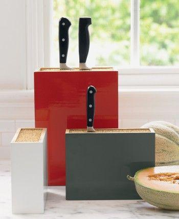 bamboo box knife holders - lovely!