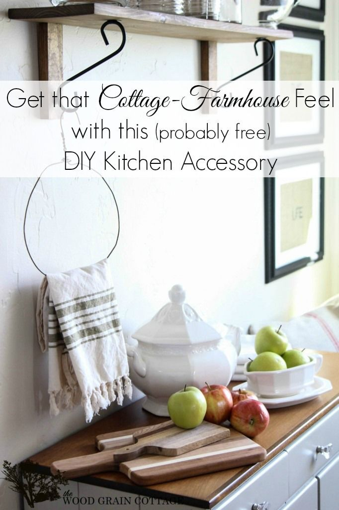 DIY Home Decor free and easy cottage farmhouse kitchen accessory