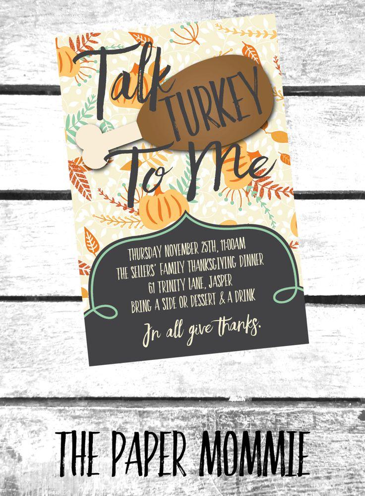 Thanksgiving Invitation, Friends Thanksgiving Invitation, Thanksgiving Dinner…