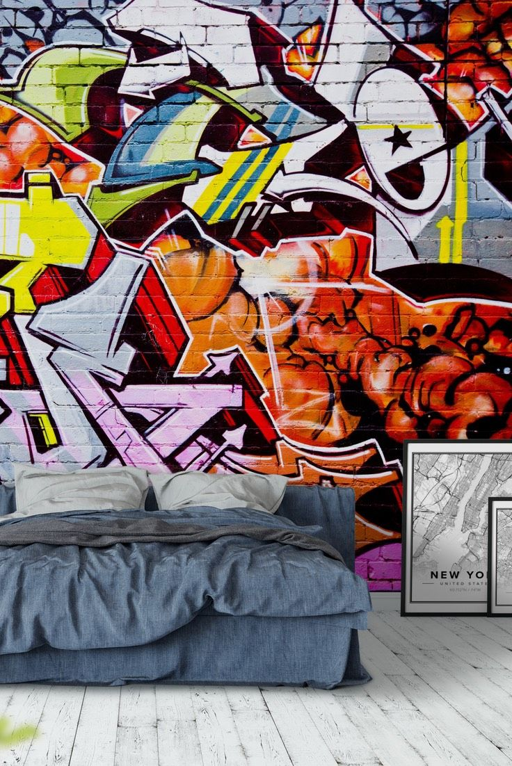 Street Graffiti Wall Mural   Wallpaper Part 84