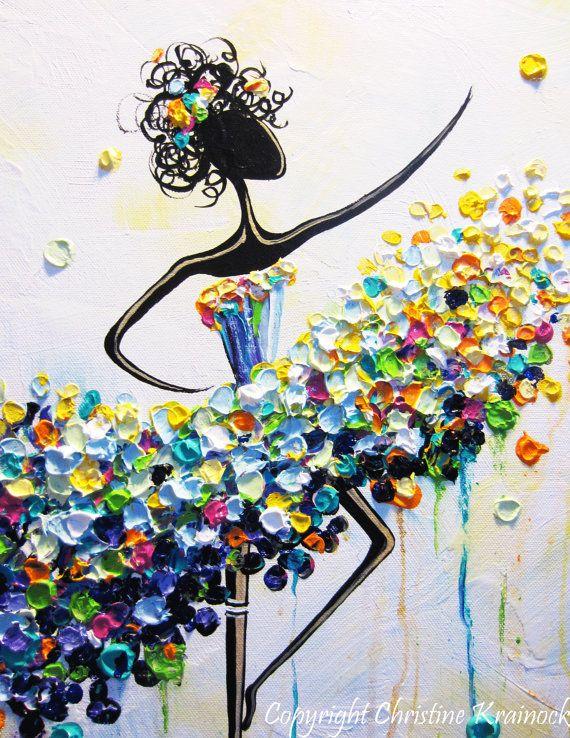 GICLEE PRINT of Abstract Dancer Painting von ChristineKrainock
