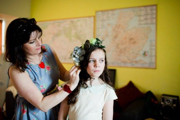 ANNE MARIE MCELROY wedding hair / CARO WEISS photography / I HEART FLOWERS floral crown