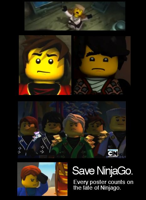 Save NinjaGo by Neon-Frost.deviantart.com on @deviantART I know they have another season but keep on doing it! Don't give them an excuse to stop!