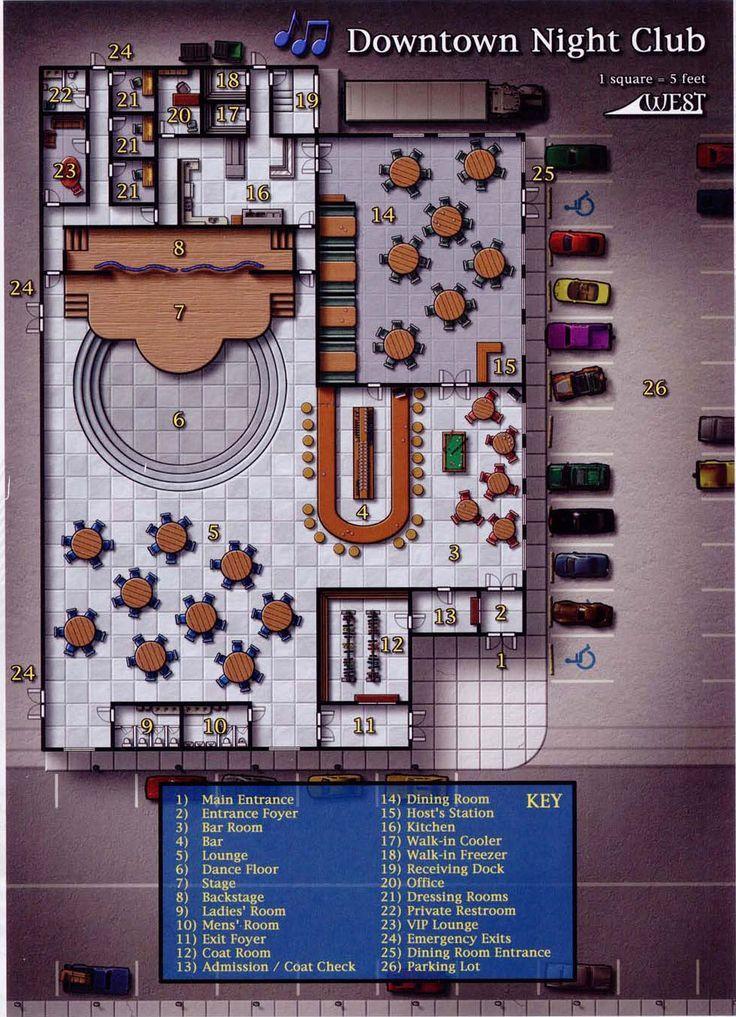 Room Design Layout: Tavern RPG Map Modern Rpg Map