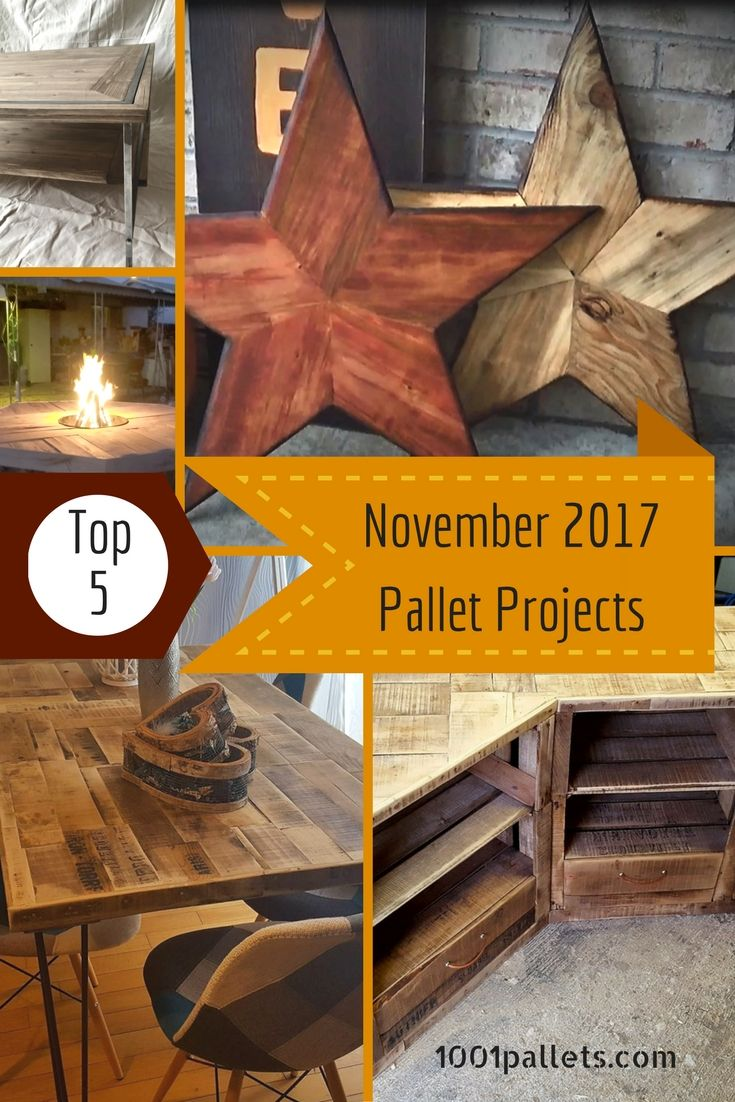 Getting ready for the holidays means thinking about gifts! Use the Top 5 November Pallet Crafts of 2017 as inspiration for great gift ideas!