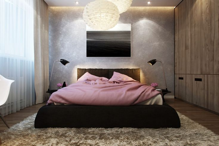 Modern Small Bedroom globe lighting