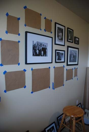 Great step by step on doing a photo gallery wall