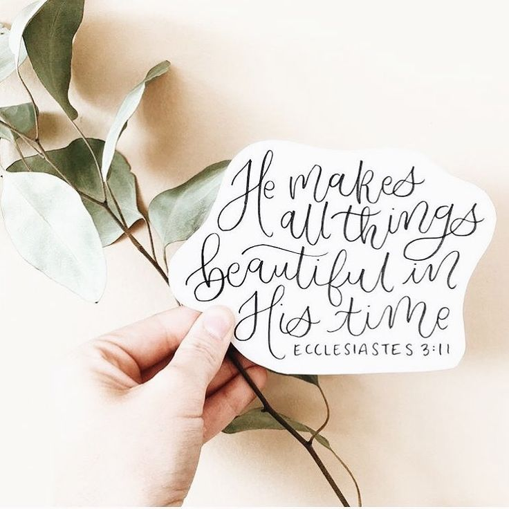 He makes all things beautiful in His time. Ecclesiastes 3:11
