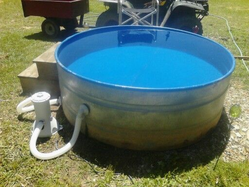 Water trough from a cattle farm turned into a pool. #watertroughpool #redneckswimningpool