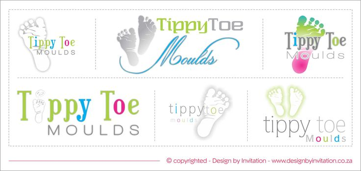 Tippy Toe Moulds - Logo Design Options © www.designbyinvitation.co.za