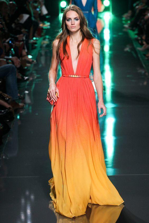 Best 25  Orange evening dresses ideas on Pinterest | Elegant ...