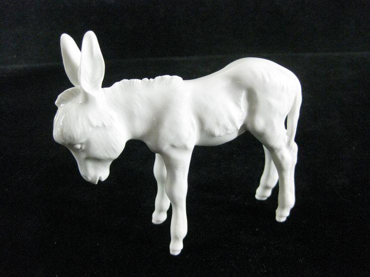 MEISSEN Porzellan - Figur weiß 'Esel' / 1. Wahl - Willy Münch-Khe / Ref. A 1242