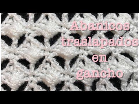 Puntada de abanicos traslapados en gancho #64 - YouTube