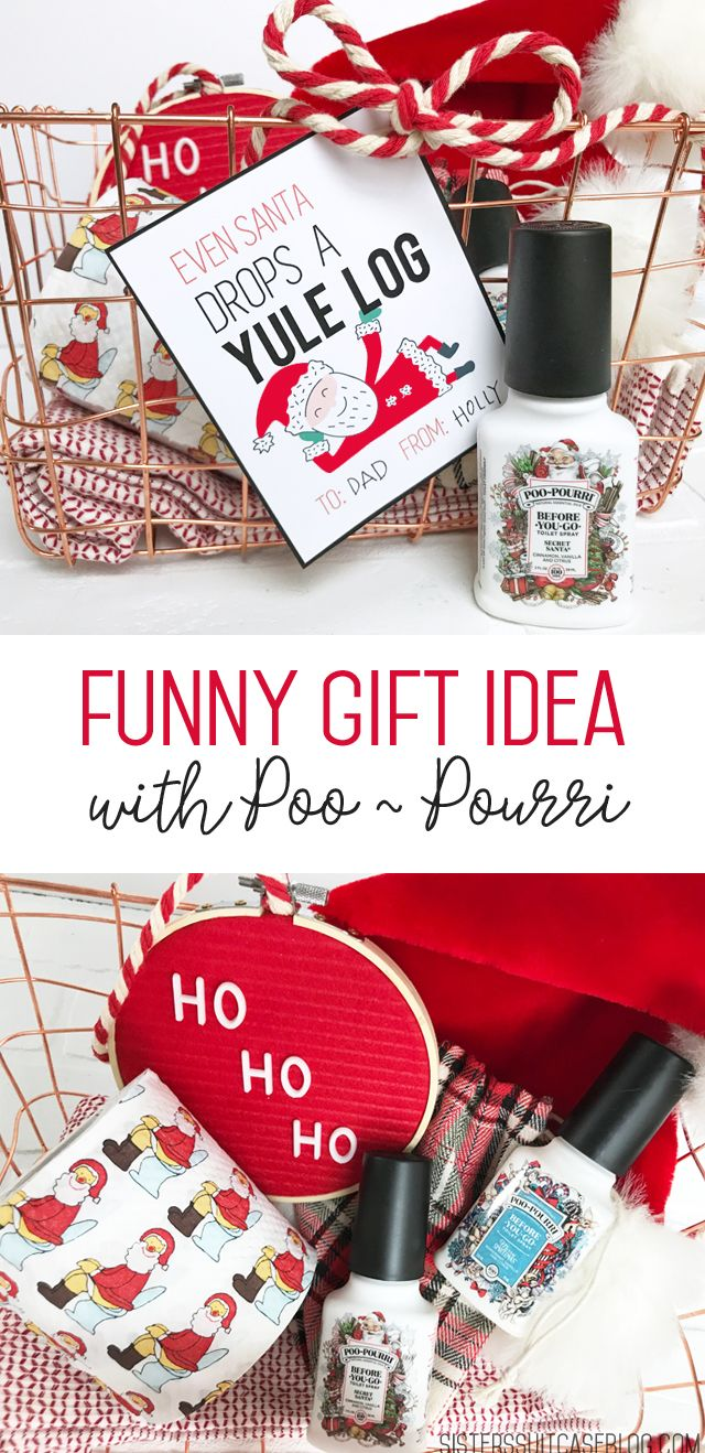 Poo Pourri Santa Gift Printable Tags Gag Gifts Christmas Gag