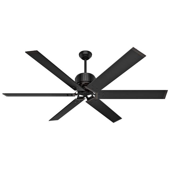 72 Hunter Hfc 72 Matte Black Outdoor Ceiling Fan 43v89 Lamps