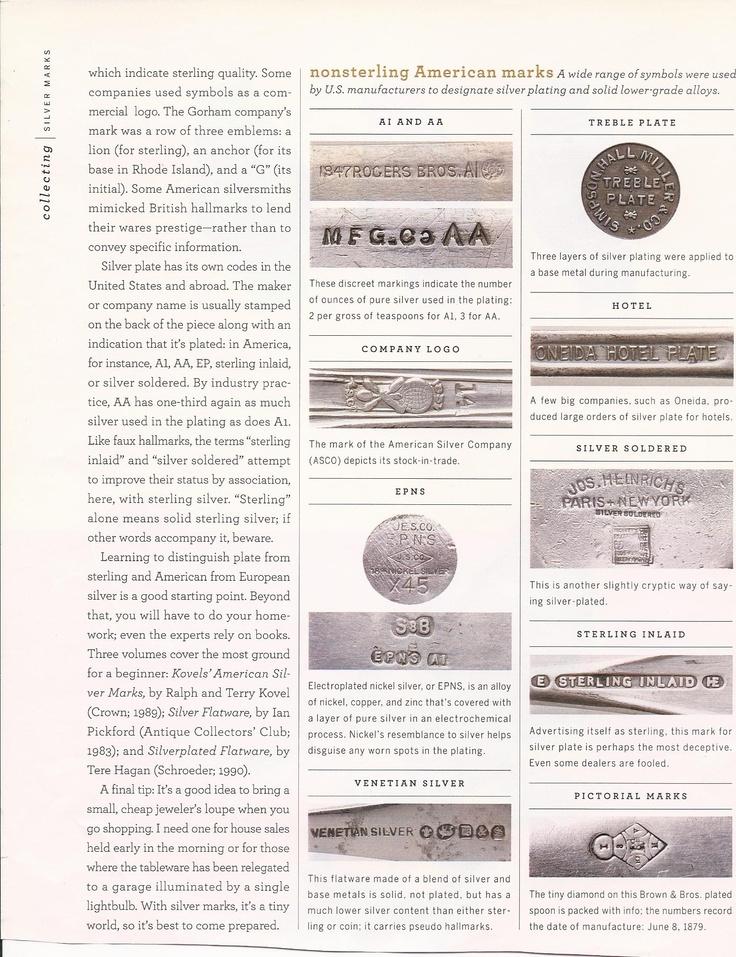 Silver Markings | aLL tHINGS vINTAGE | Pinterest
