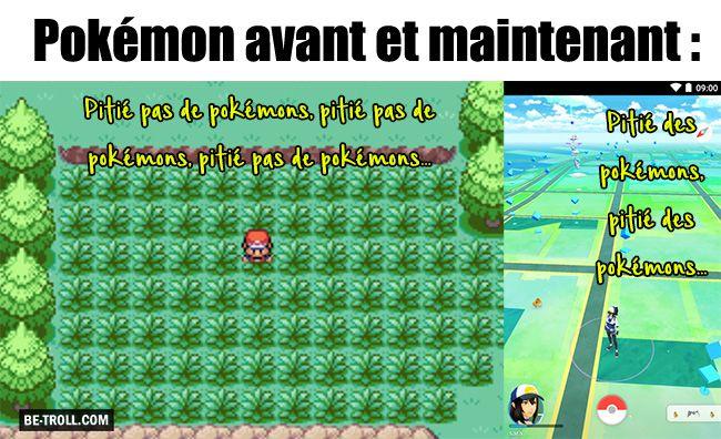 Pokémon avant et maintenant : - Be-troll - vidéos humour, actualité insolite