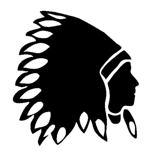 indian chief die cut vinyl decal pv1050