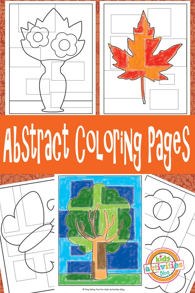 Abstract Coloring Pages Free-Printable - fun coloring pages for kids in fall patterns...what fun!