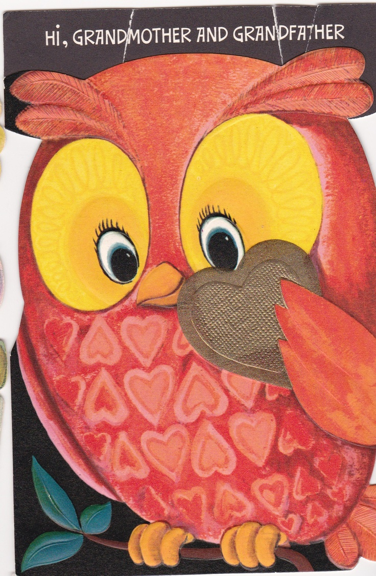 Vintage 1970's Owl Valentine