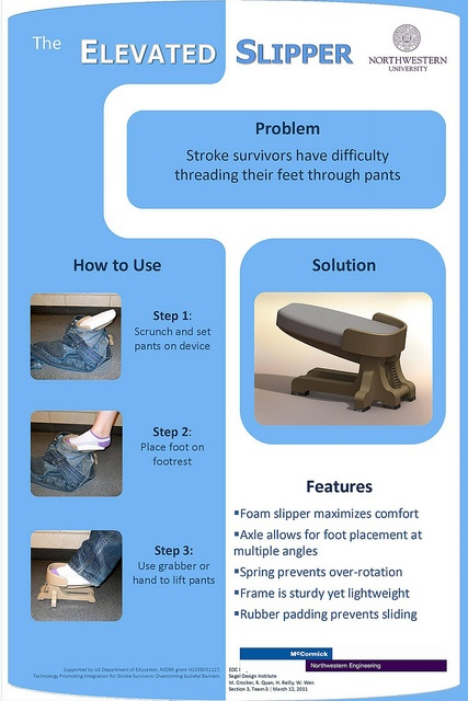 This is brilliant... helping keep feet up when putting on pants. Great for patients after stroke!