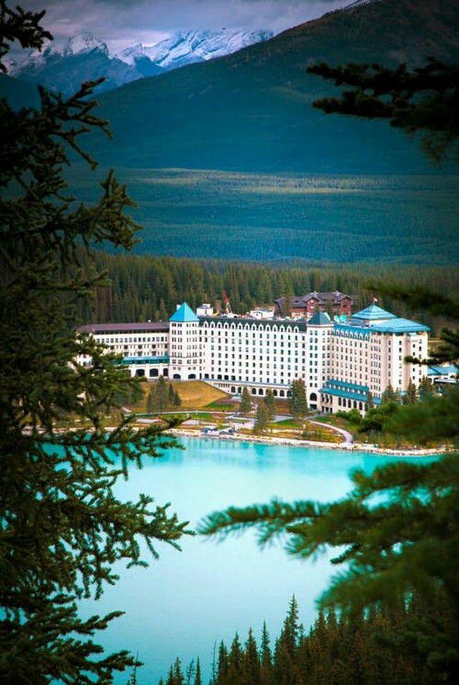 The Fairmont Château, Lake Louise, Banff, Alberta, Canada.