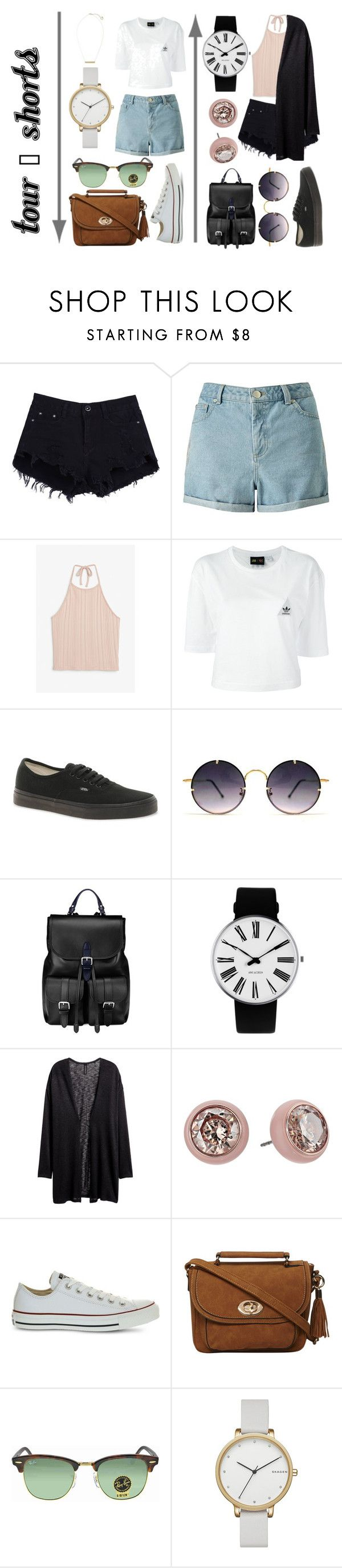 """""""TOUR - Shorts"""" by lilyrose2000 on Polyvore featuring Miss Selfridge, Monki, adidas, Vans, Spitfire, Aspinal of London, Rosendahl, H&M, Michael Kors and Converse"""