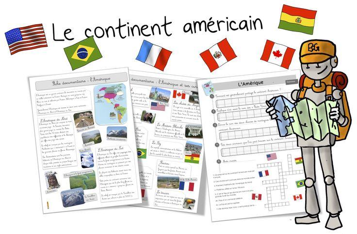 Le continent américain : découverte et exercices - Bout de gomme