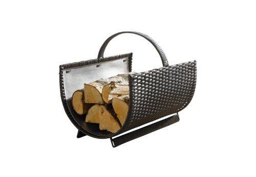 """Metal log basket """"polyrattan"""" washable Frank Flechtwaren http://www.amazon.co.uk/dp/B003G2QEAO/ref=cm_sw_r_pi_dp_t0N6tb0KPPQJ5"""