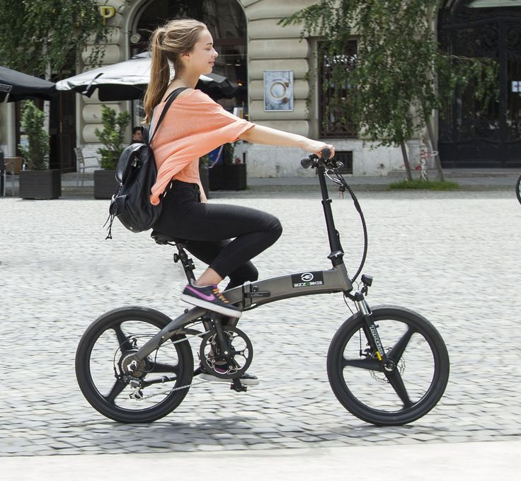 Bizze Foldable // Electric Folding Bicycle with manual acceleration by BizzOnWheels