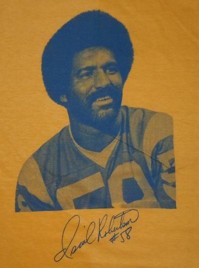 Vintage 1970s 70s ISIAH ROBERTSON LA Rams NFL Football shirt