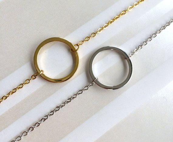 Eternity Bracelet, Circle Bracelet, Gift For Her, Mom Grandma Sister Gift, Bridesmaid Gift, Bridesmaid Bracelet, Gold Silver Bracelet
