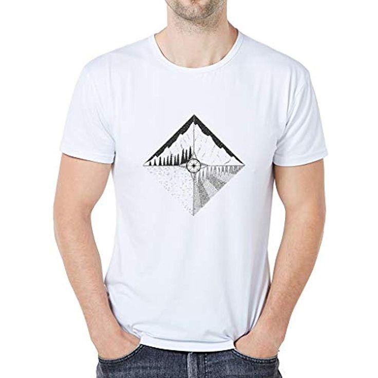 Mode Cartoon Tier T-Shirt Kurzarm Baumwolle T-Shirt Top bluestercool Weiß Herre…
