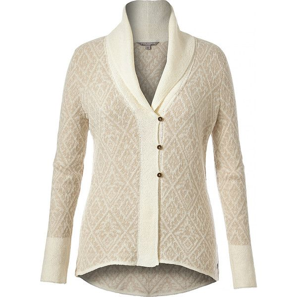 Royal Robbins Womens Autumn Rose Cardigan - S - Creme - Women's... (£42) ❤ liked on Polyvore featuring tops, cardigans, white, button front top, button front cardigan, lightweight cardigan, logo top and rose cardigan