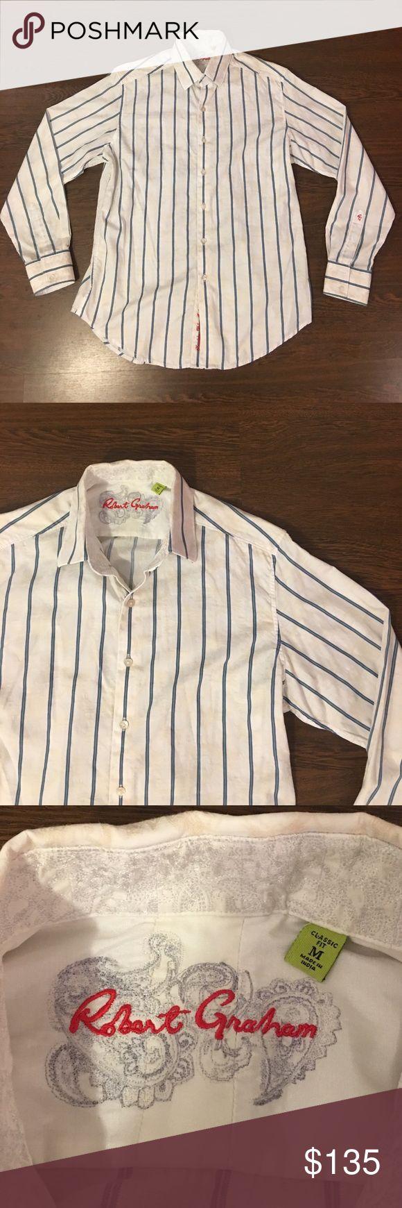 Robert Graham Handmade Button Down Shirt (Medium) Robert Graham Button Down Shirt. Handmade Limited Edition Dress Shirt. Lightly Worn. In Great Pre Owned Condition. Robert Graham Shirts Casual Button Down Shirts